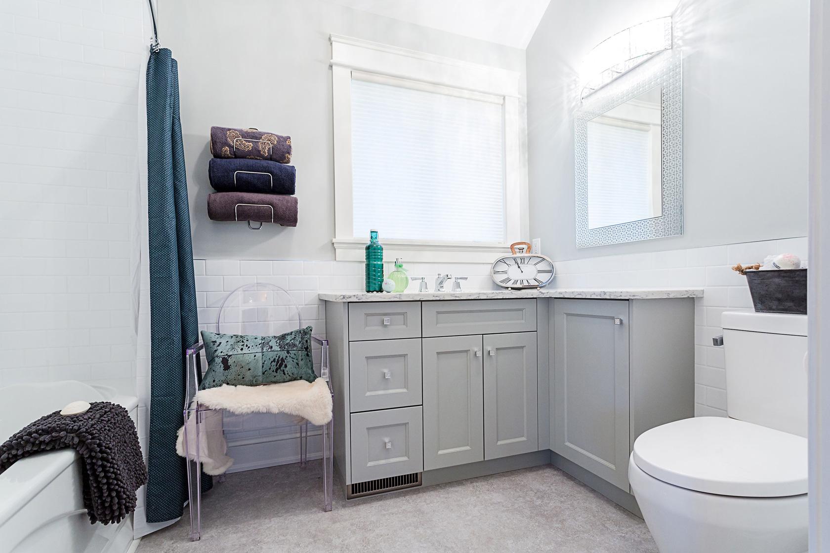 Master Bathroom Vanity, Chair & Toilet