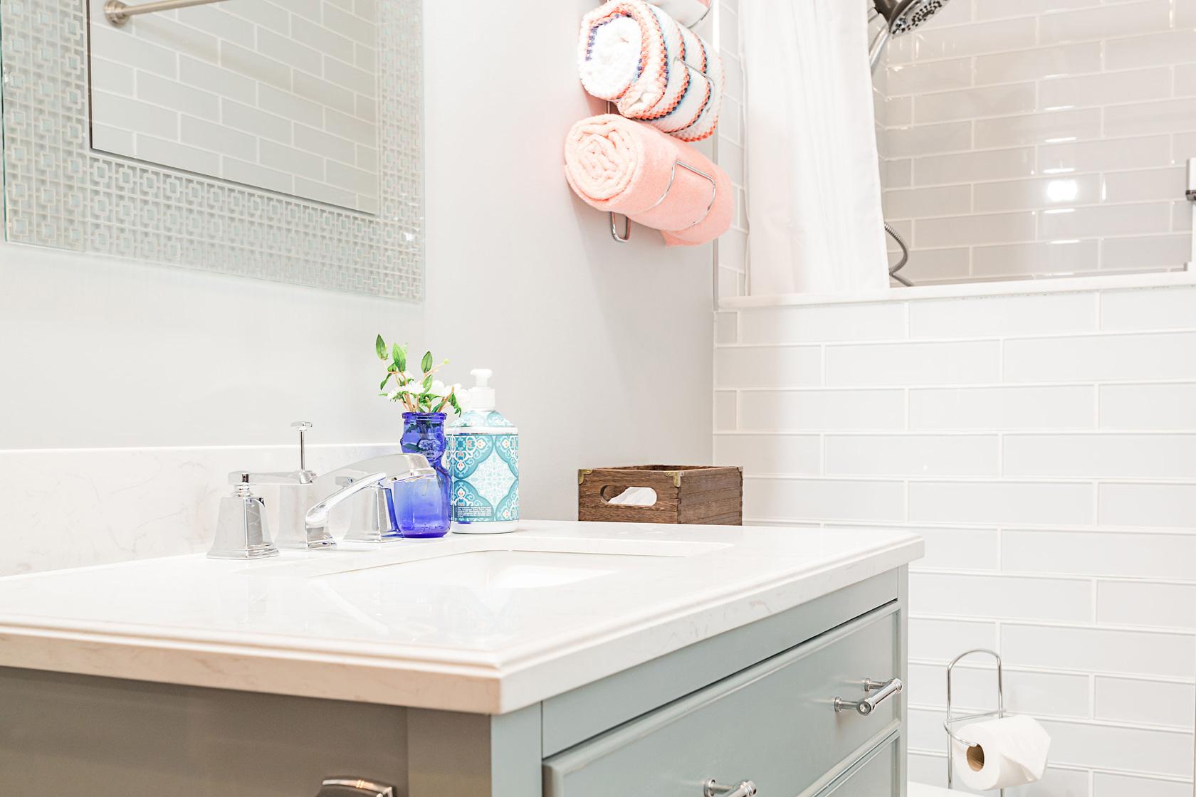 Guest Bathroom Vanity Closeup